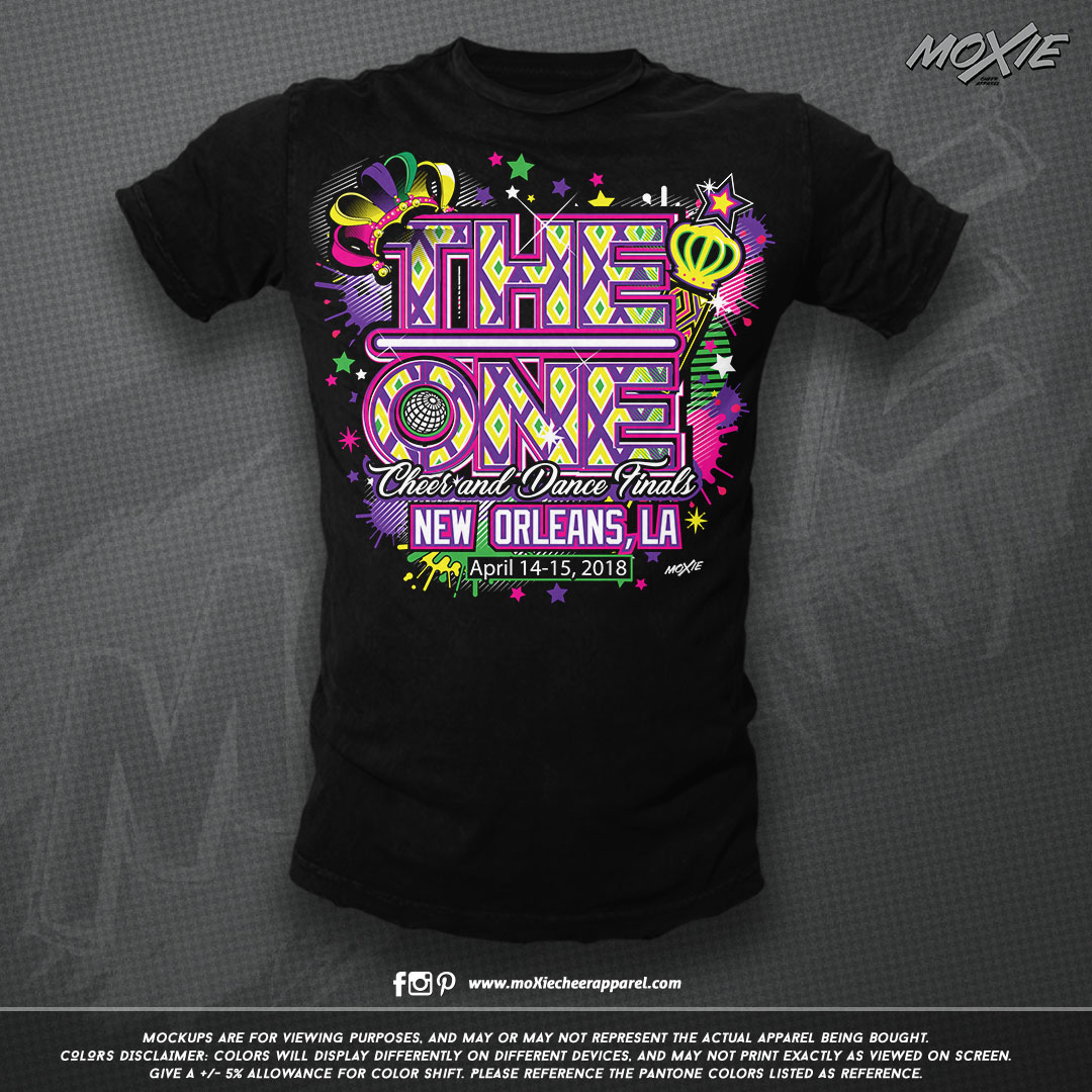 THE ONE New Orleans 18 TSHIRT-moXie PROO
