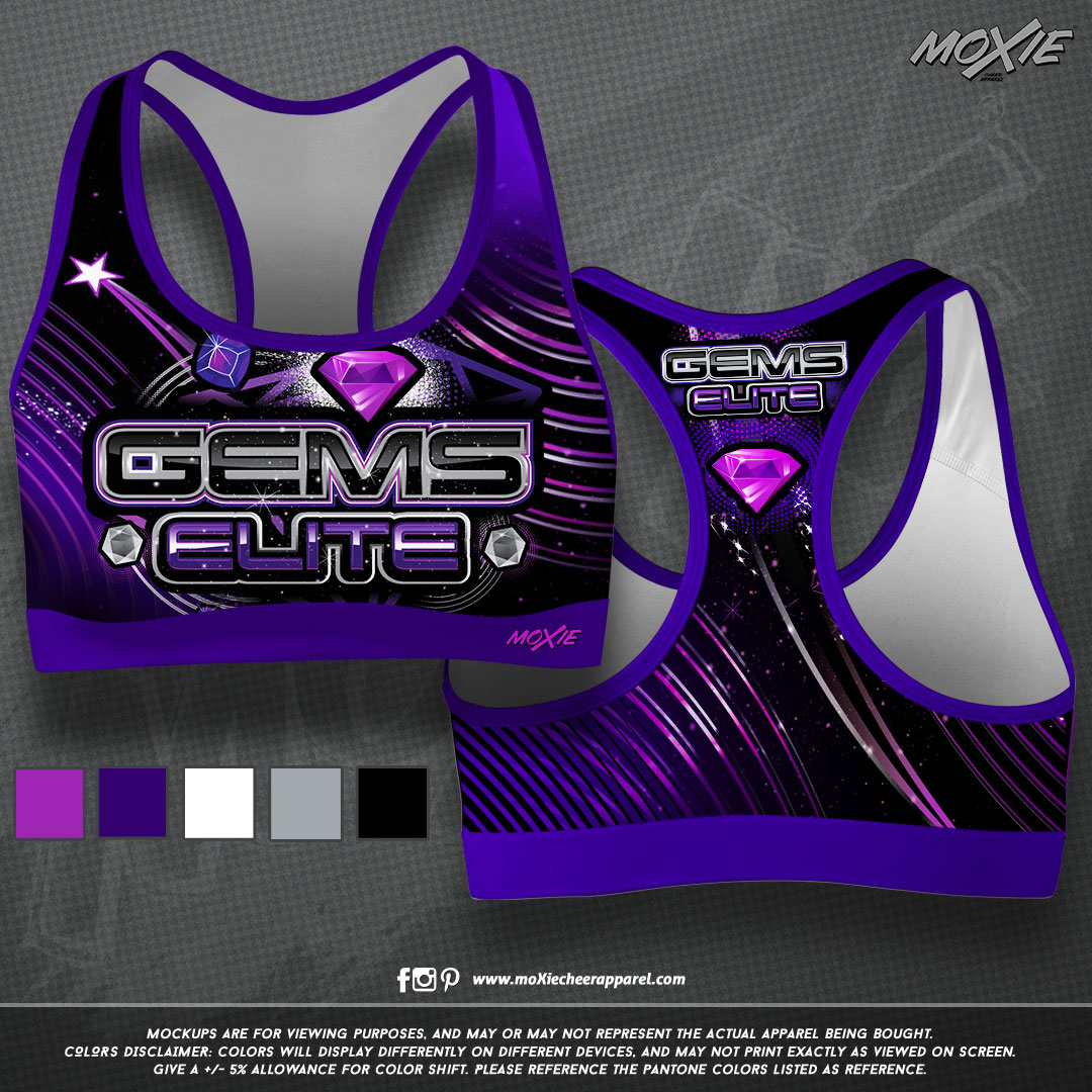 Gems Elite Cheer-SPORT BRA-moXie PROOF