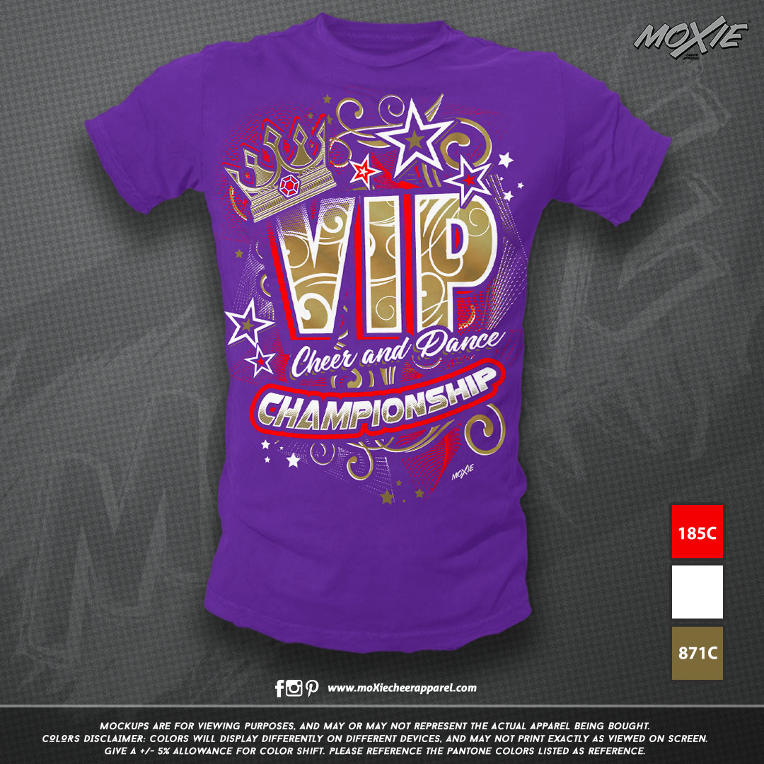 VIP Cheer & Dance TSHIRT-moXie PROOF