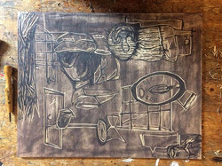 #wip #studio #relief #wood #printmaker
