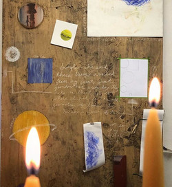 Candles in the studio. . . . .