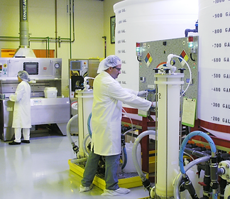 Capacity of chemical blending facility exceeds 12,000 gallons per shift.