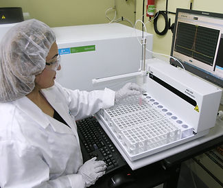 State-of-the art analytical laboratory continuously monitors product quality.
