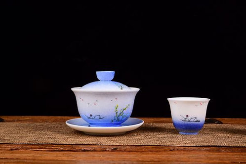 Life On The River Gaiwan and Cups (2)