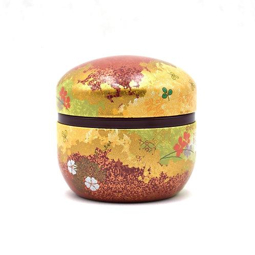 Autumn Brown Lacquered Tea Tin