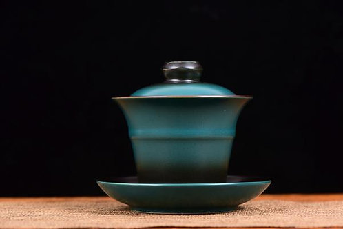 Fade to Green Gaiwan and Cups (2)