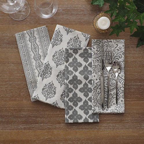 Cotton Print Table Napkins - Set of 4