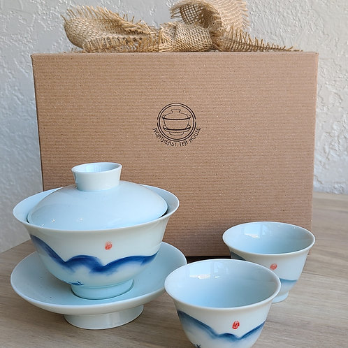 Li River Fishing Gaiwan Set