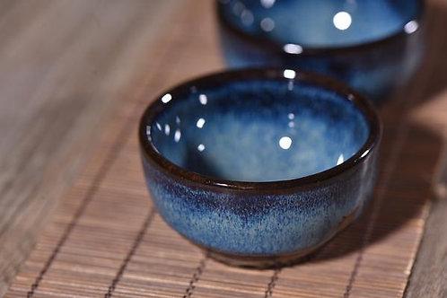 Cobalt Blue Gradient Glazed Cups (2)