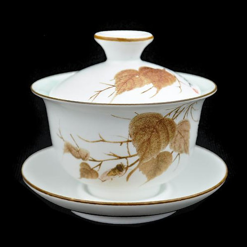 Autumn Leaves Gaiwan and Cups (2)