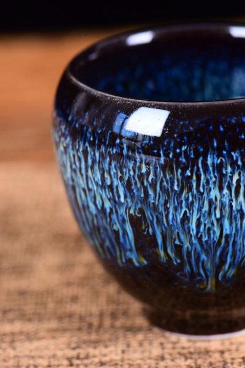Tian Mu Glazed Electric Blue Cups (2)