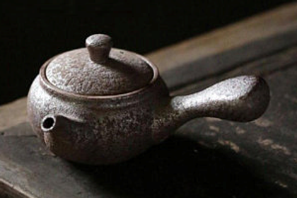 Kyusu Glazed Rust Side Handle