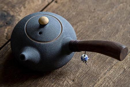 Kyusu Ceramic Blue Tea Pot