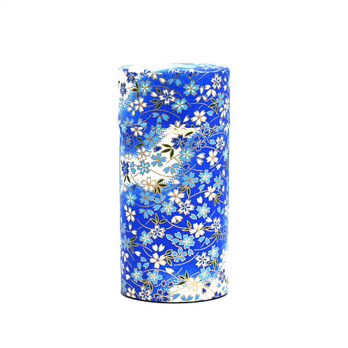 Blue Aoi Hana Japanese Washi Tea Tin