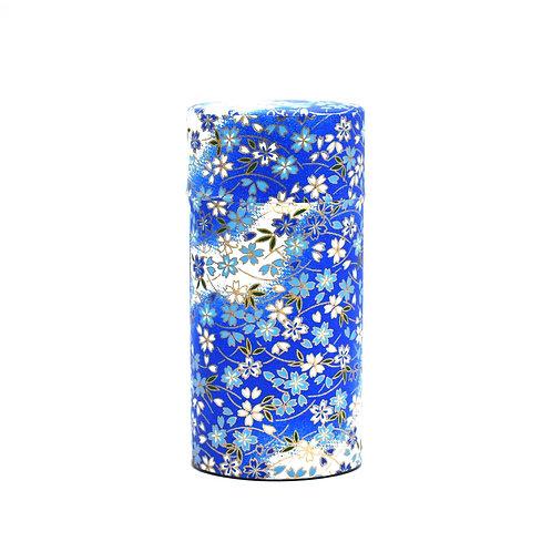 Blue Aoi Hana Japanese Washi Tea Tin