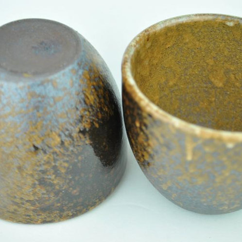 Wood Fired Glazed Yixing Cups (2)
