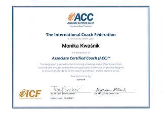 Coach ACC. Uprawnienia. Wykształcenie. Certyfikacja