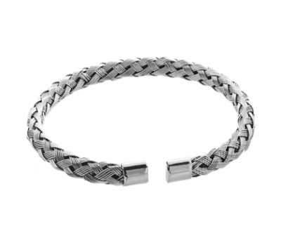 Stainless Steel Braided Bangle