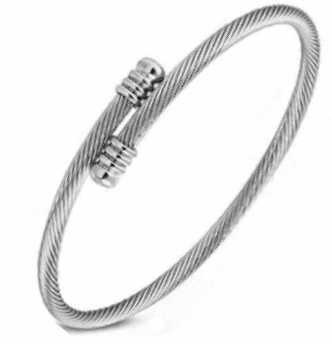 Stainless Steel Thin Wire Bangle