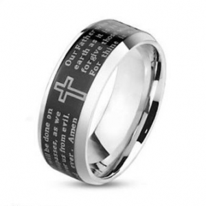 Stainless Steel 316 Lord's Prayer Ring
