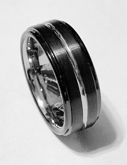 Tungsten Ring Black Infinity – 8mm wide