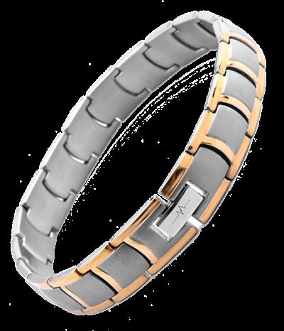 Titanium Crescent Square Bracelet - 2 Tone or Silver
