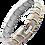 Thumbnail: Titanium Crescent Square Bracelet - 2 Tone or Silver