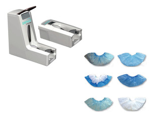 The Step' N Go® Kinetic Shoe Covers & Applicator
