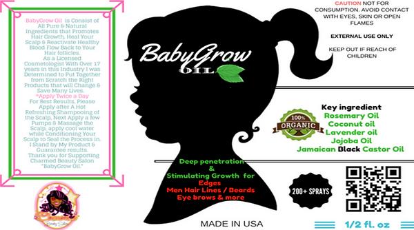 Charmed baby grow oil