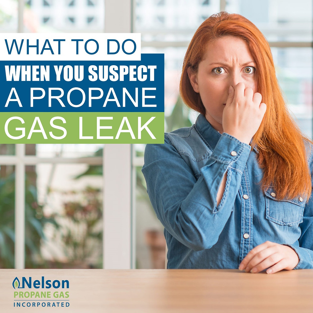 What to do if you suspect propane gas leak