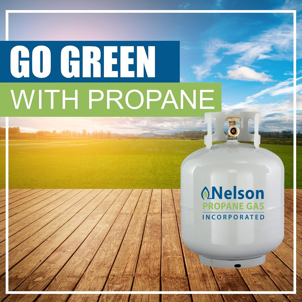 Go green with propane. Enviromental benefits of using propane.