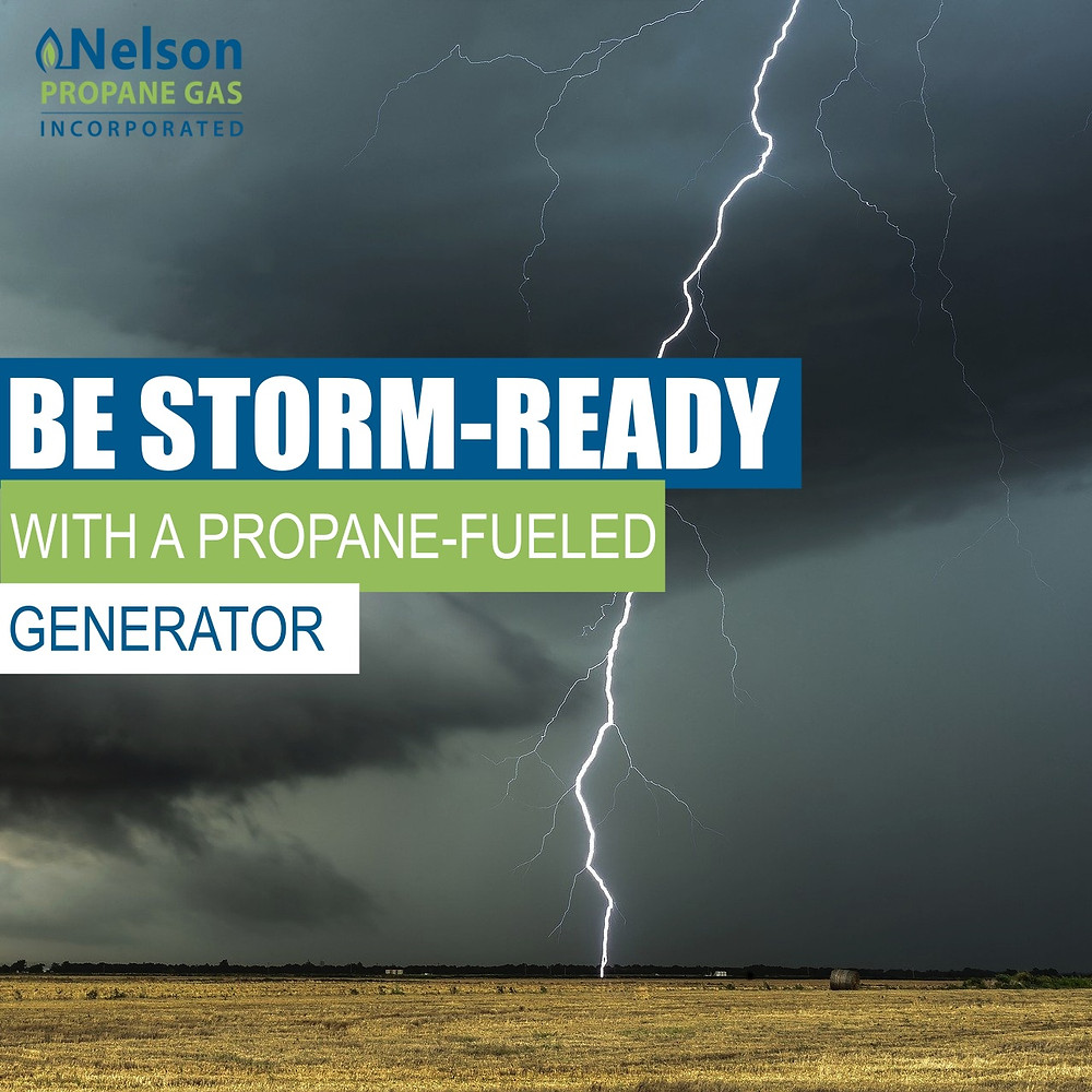 Be storm ready with propane generator