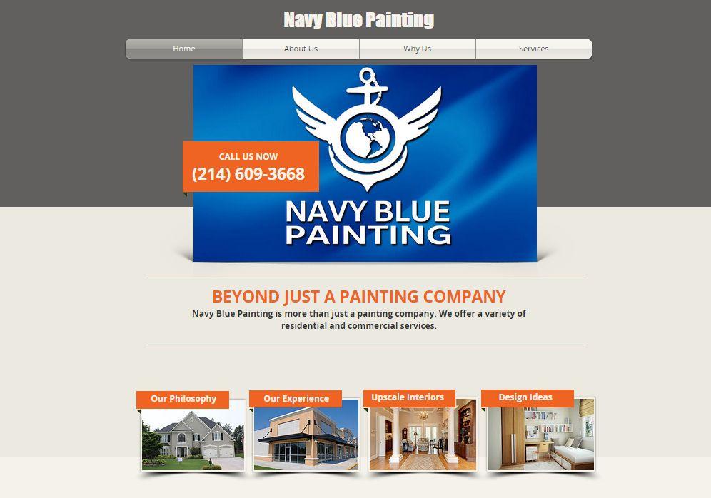 Navy Blue Painting Website