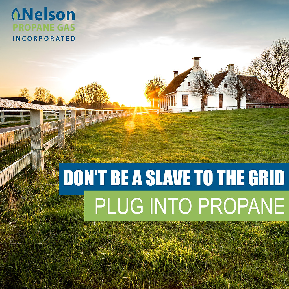 Living off the grid using propane
