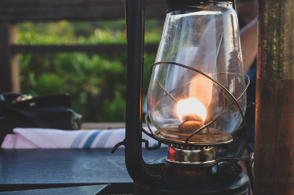 Nelson Propane - Gas open flame lamp