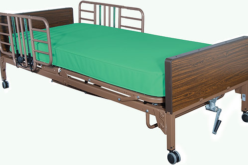 Semi-Electric Bed Package with Half Rails and Flex-Ease Innerspring Mattress