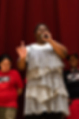 P176X singing during the Black History M