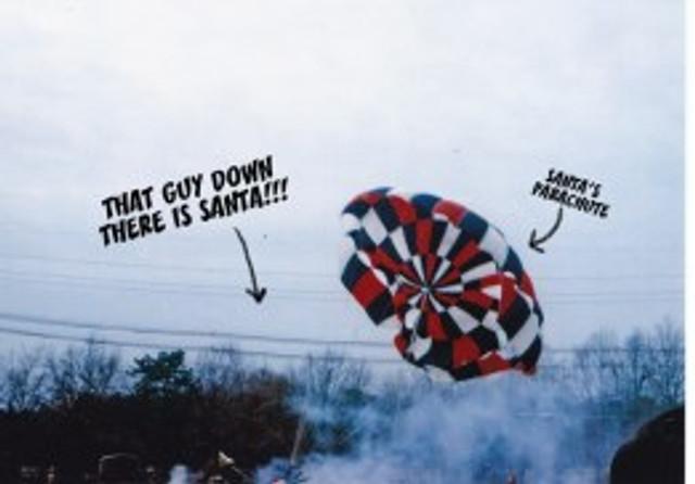 Santas-parachute