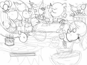 Rough ipad dinosuar sketch by Bob Ostrom