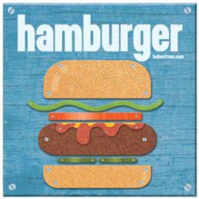 Hamburger illustration showing textures