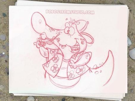 Bob Ostrom Studio Sketchbook Friday.