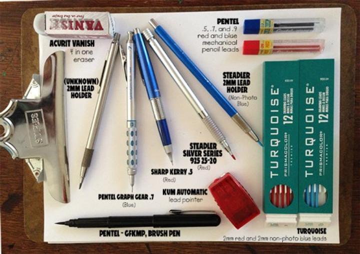 Pen, pencil, brush, staedter, pentel, brushpen, turquoise