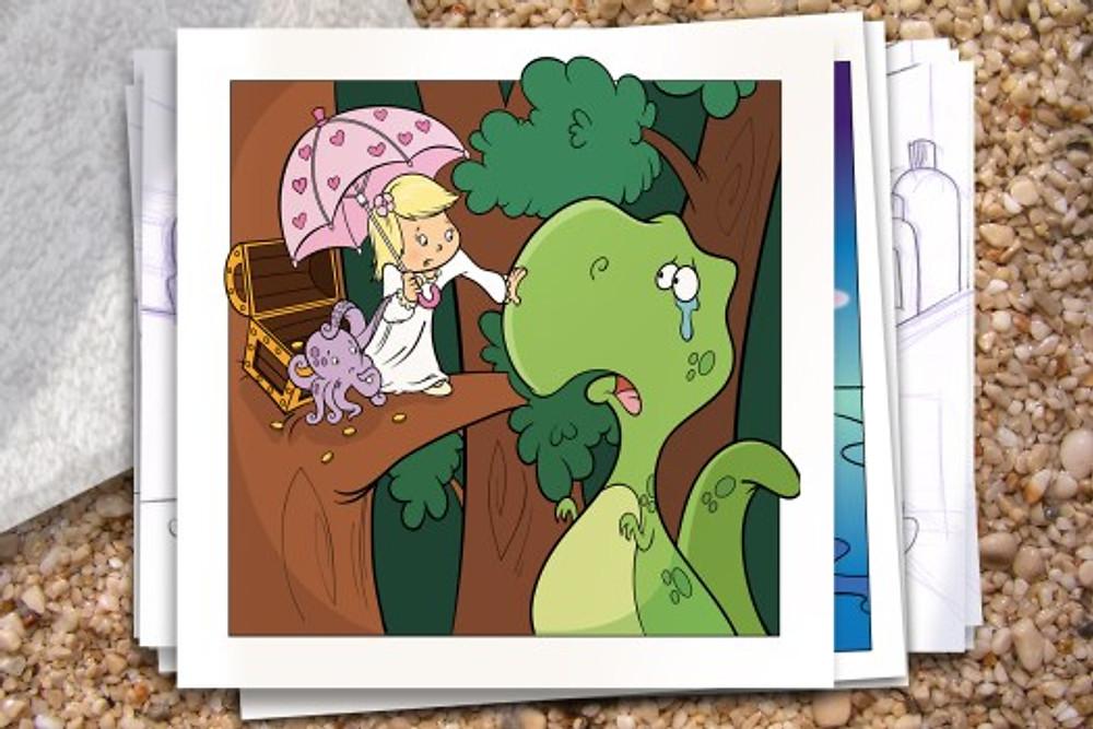 Addie-ollie-childrens book illustration page 16 Bob Ostrom