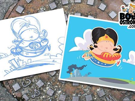 Drawing Super Heroes – Wonder Woman