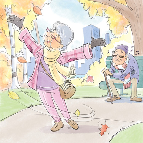 Grandma's big day out