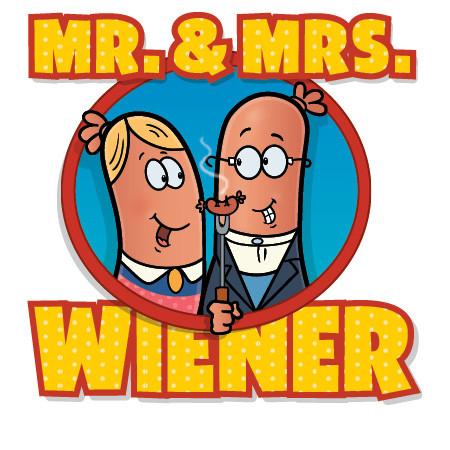 Mr. & Mrs Wiener Logo