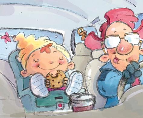 Car ride with dad