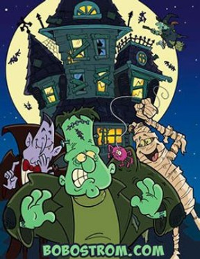 Haunted House cartoon Cover Art - Bob Ostrom