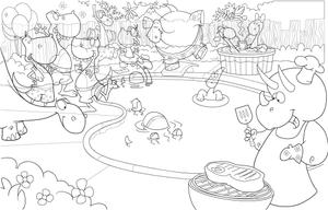 Adobe Illustrator line art by Bob Ostrom Studio