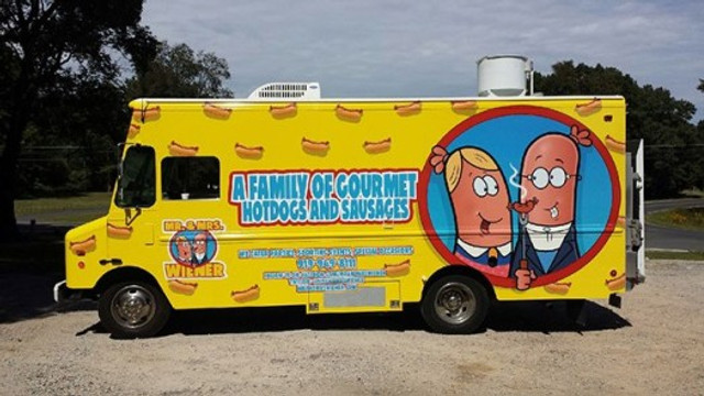 photo of the mr. and mrs. wiener truck logo designed by bob ostrom